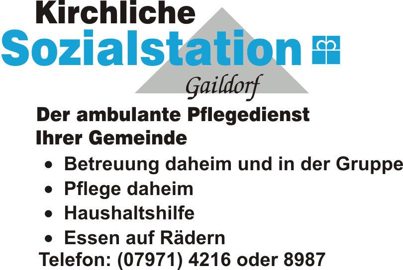 Kirchliche Sozialstation Gaildorf