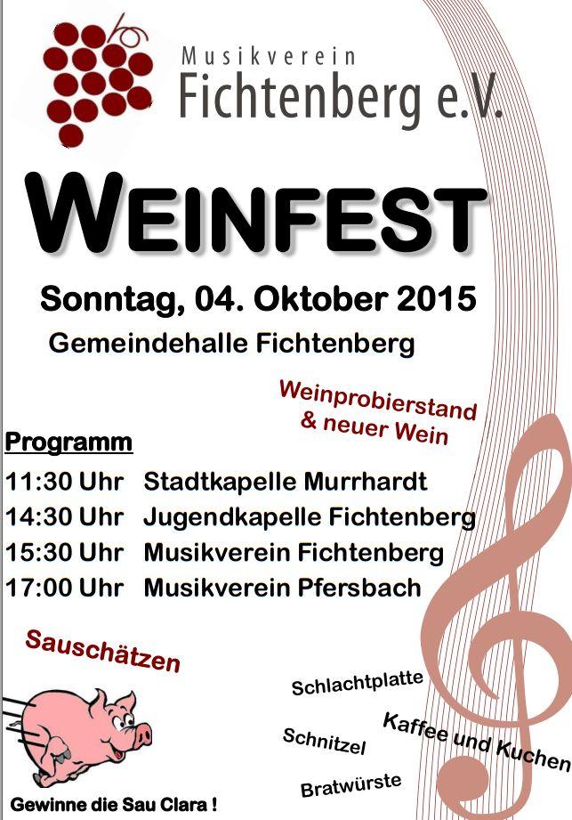 Plakat Weinfest 2015